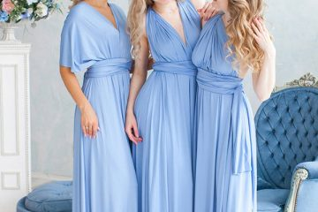Dusty blue infinity dress