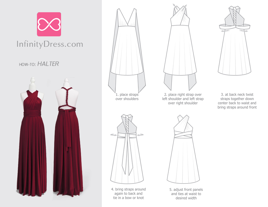 Halter infinity dress styles