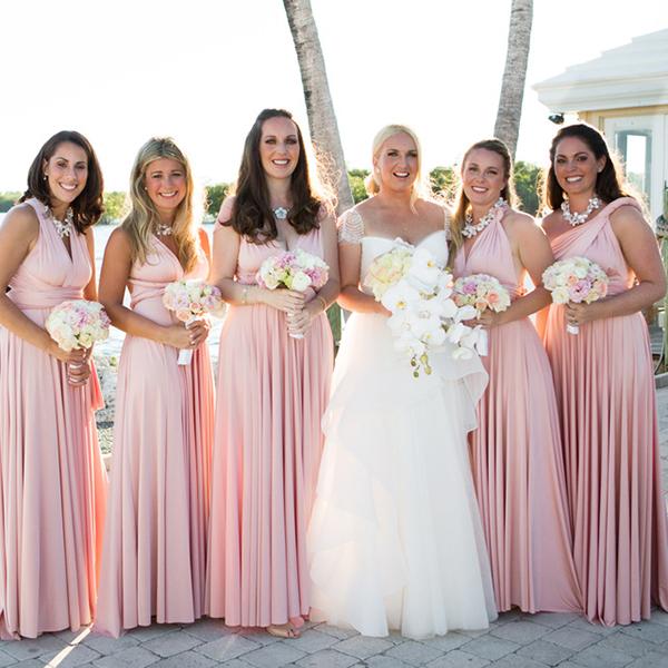 Blush pink infinity dress bridesmaid