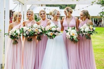 Blush pink infinity dress bridesmaid