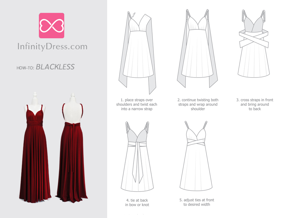 Blackless infinity dress styles