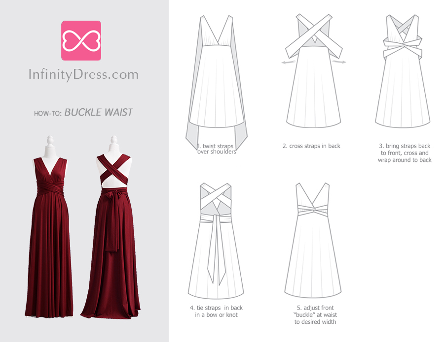 Buckle Waist Infinity dress styles