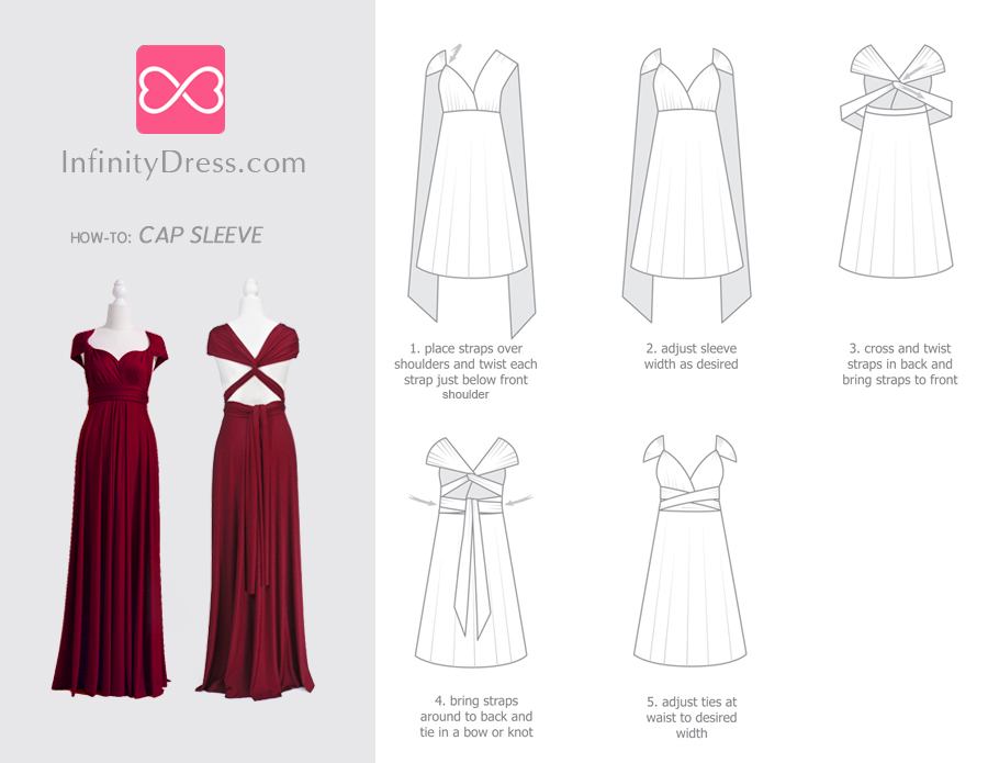 cap sleeve infinity dress styles