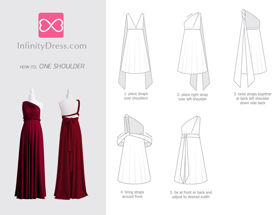 One shoulder infinity dress styles