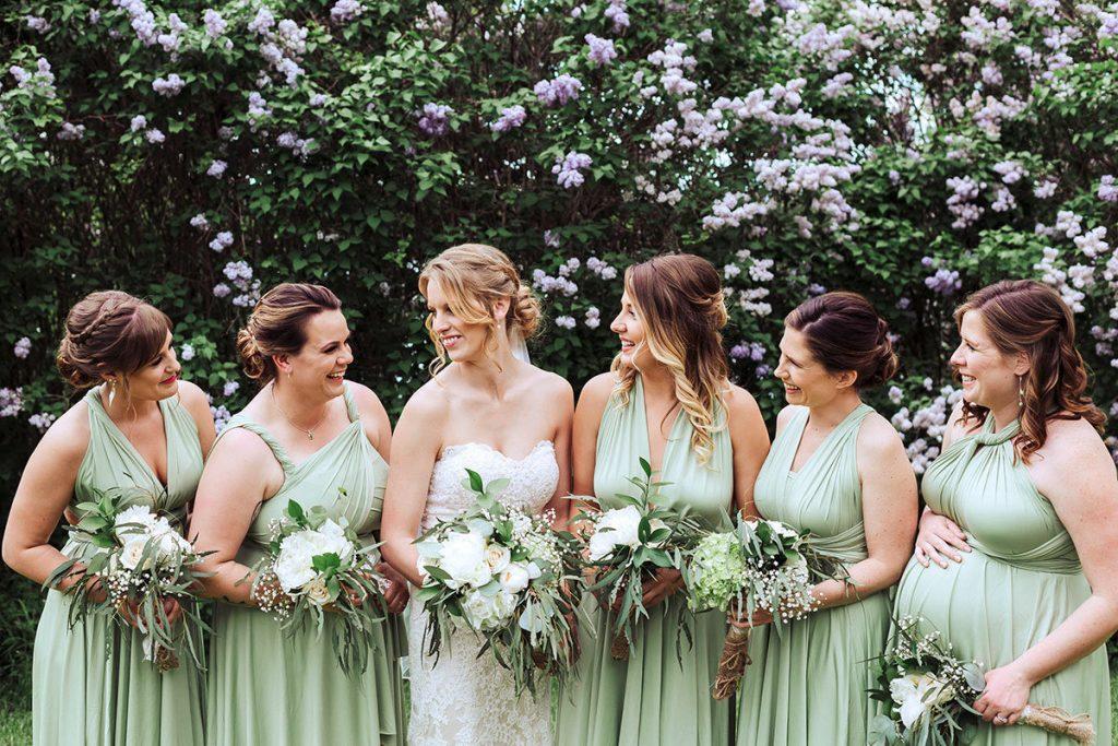 sage infinity bridesmaid dress
