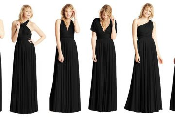 black infinity bridesmaid dress