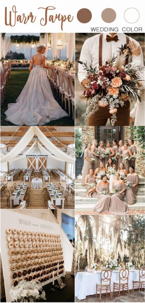 Taup wedding color ideas
