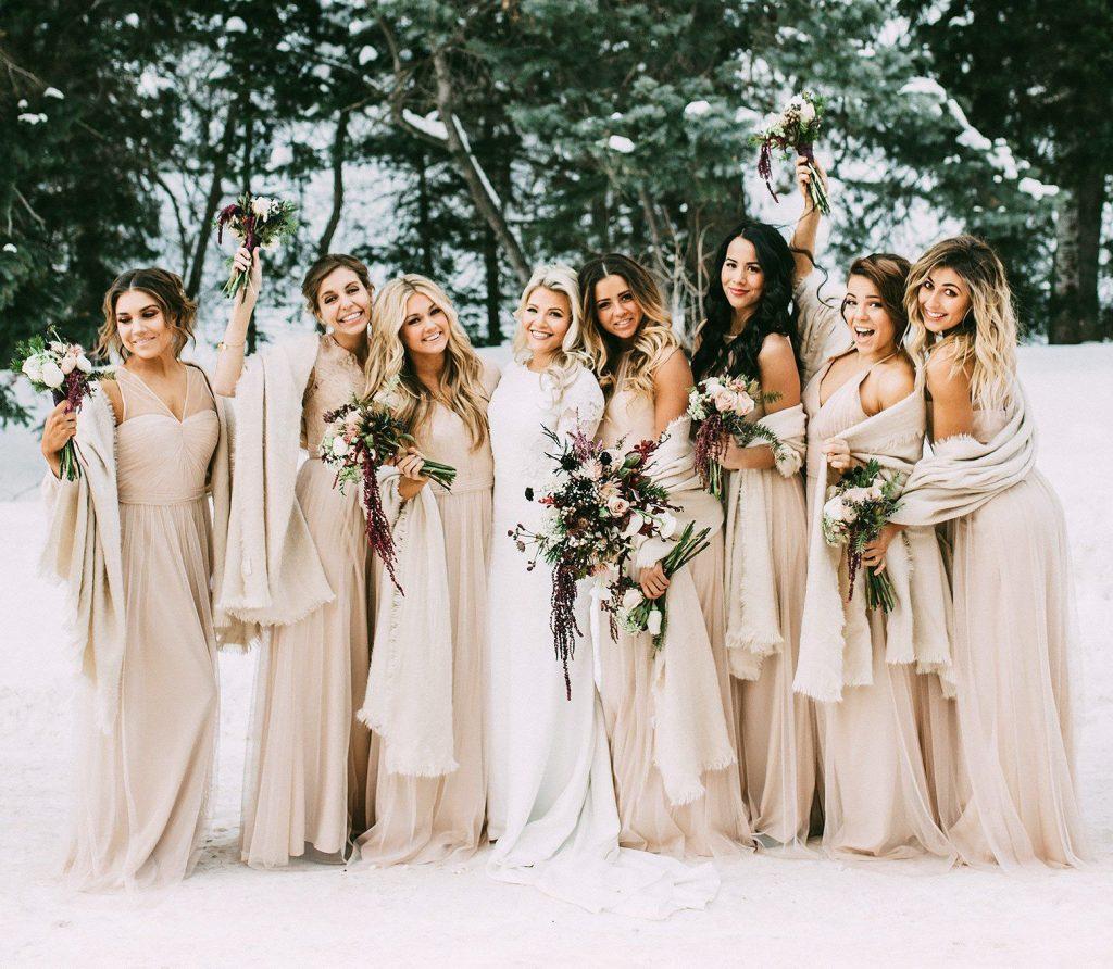 champagne bridesmaid inspiration