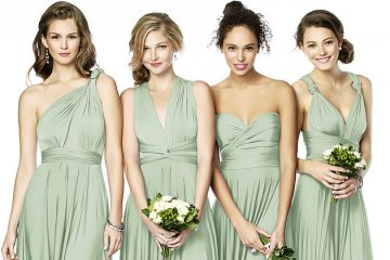Sage infinity bridesmaid dress