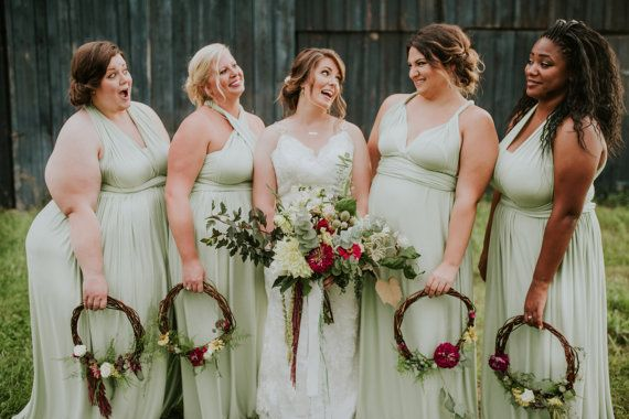 sage plus size infinity dress