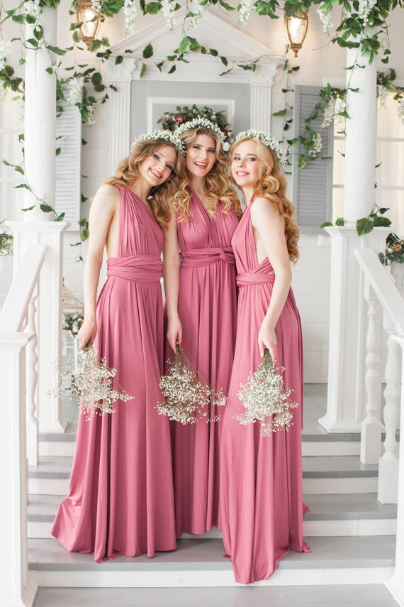 dusty rose infinity dress bridesmaid