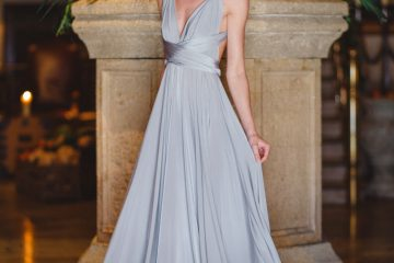 Grey infinity dress