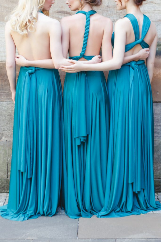 Teal infinity bridesmaid dress styles
