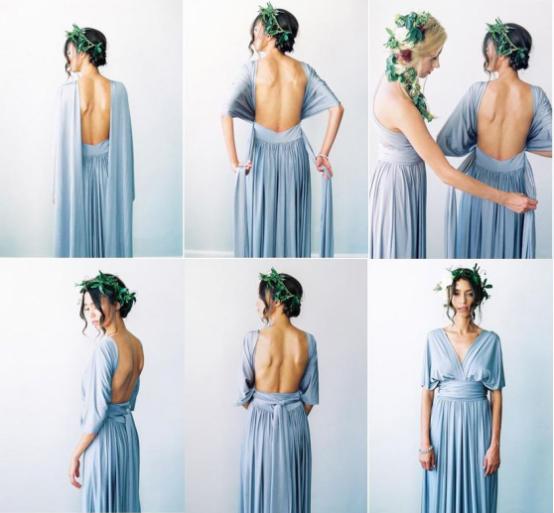 Backless bridesmaid dress
