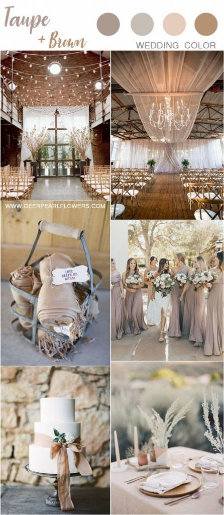 taupe wedding