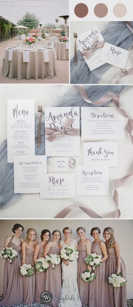 taupe and grey wedding