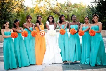 turquoise infinity bridesmaid dress