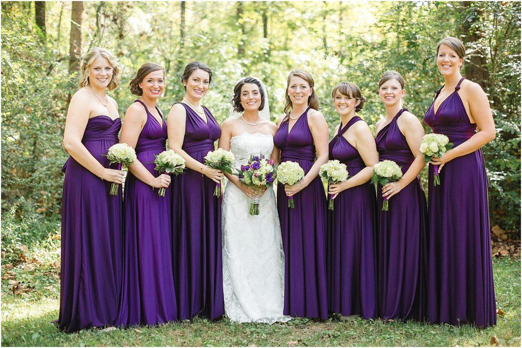 purple infinity dress