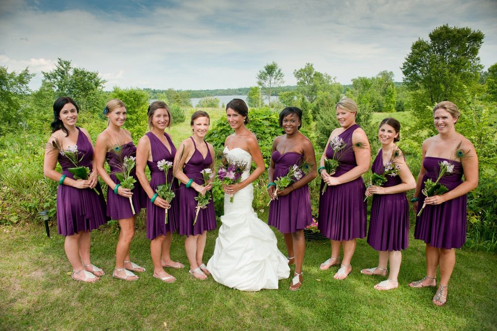 purple infinity bridesmaid dress