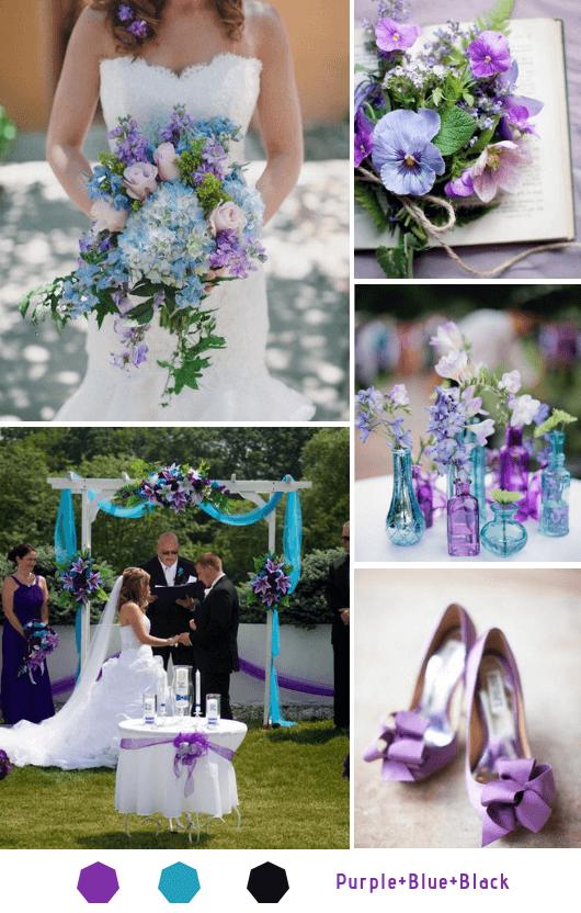 pure blue black wedding color