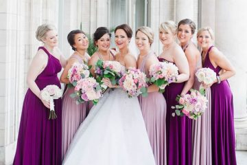 purple infinity bridesmaid dress