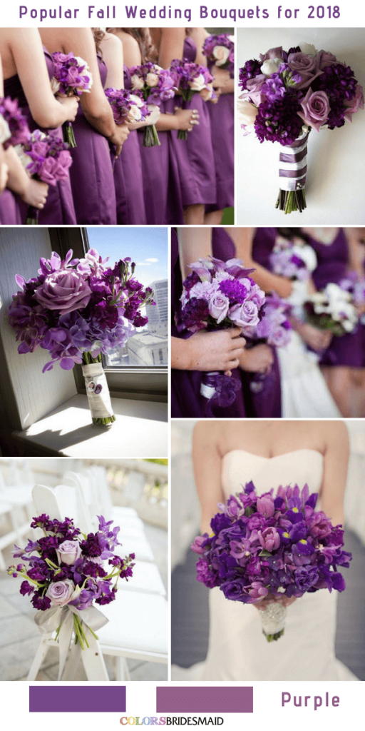 purple and white wedding colors