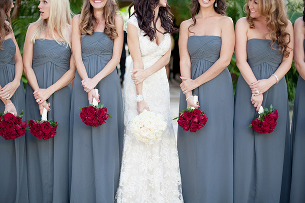 grey infinity bridesmaid dress