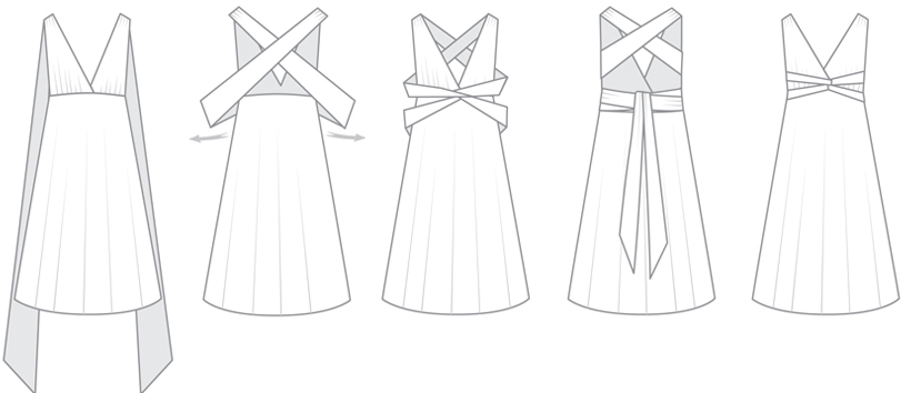Buckle waist infintiy dress styles