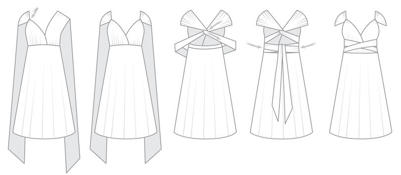 Cap sleeve infintiy dress styles