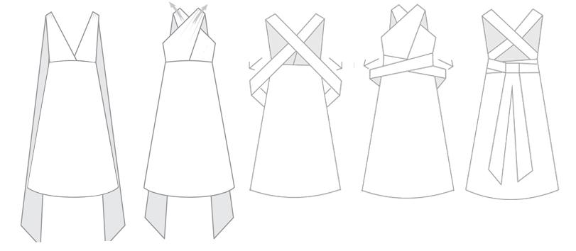 Halter infintiy dress styles