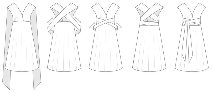 Sleeves infintiy dress styles