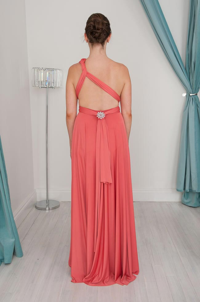One shoulder asymmetrical Infinity Dress Styles