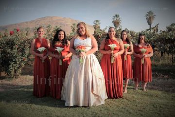 Burnt orange infinity bridesmaid dress