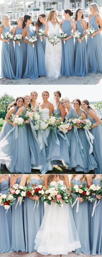 Dusty Blue Bridesmaid Dress