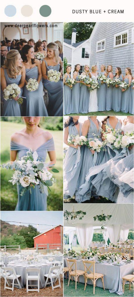 Dusty blue & Cream Wedding Theme