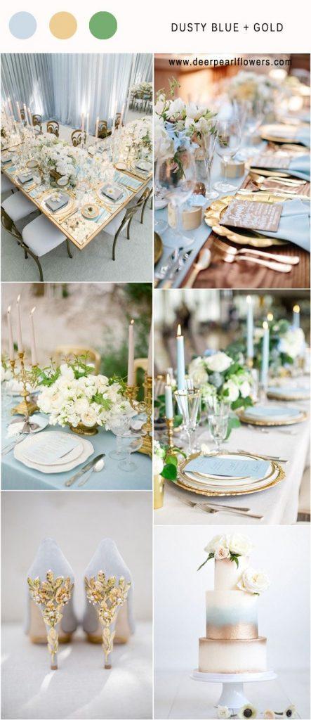 Dusty Blue & Gold wedding theme