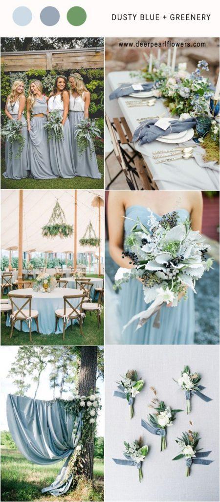 Dusty  Blue & Green wedding theme