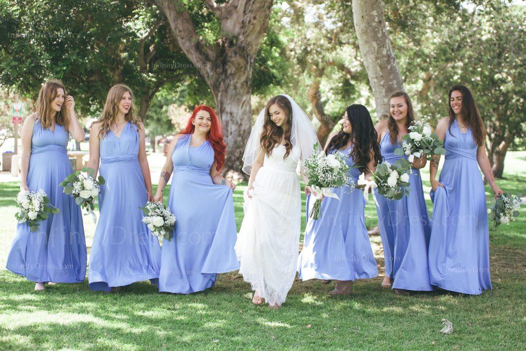 Dusty Blue Infinity Dress