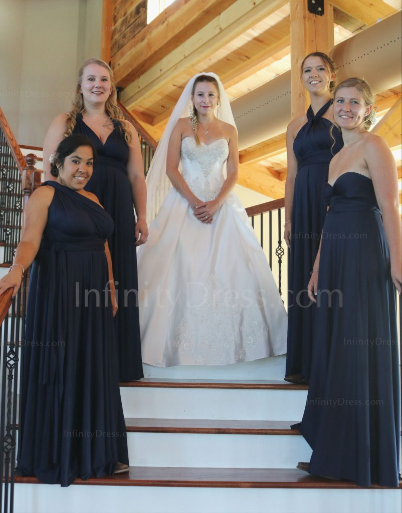 Navy Blue Infinity Bridesmaid dress