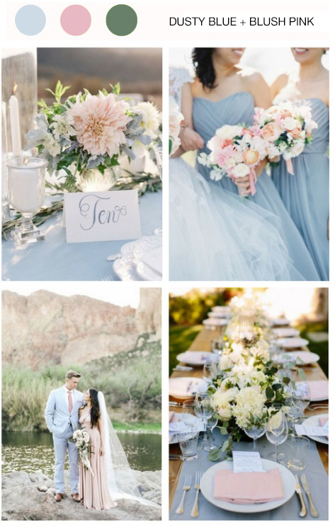 Dusty blue & Blush Pink wedding theme