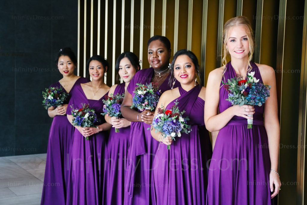 Puple Multiway bridesmaid dress