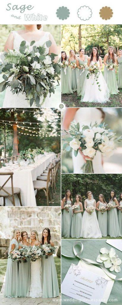 sage white wedding color