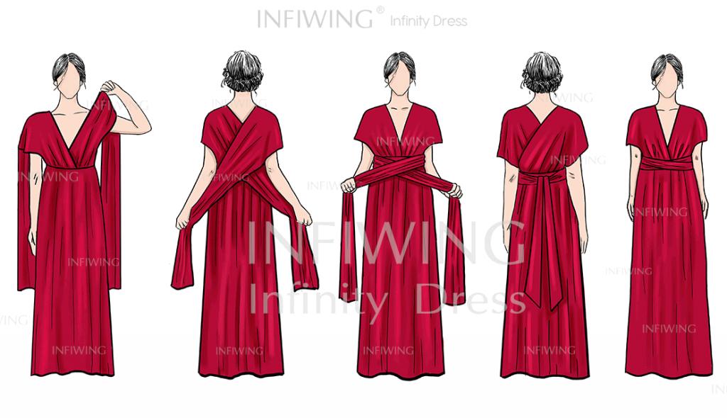 infinity dress tutorials